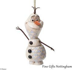 Olaf Hanging Figurine Disney Frozen - Disney Traditions Jim Shore A27550 #OlafSnowmanHangingOrnament #DisneyTraditionsJimShore #FineGiftsNottingham