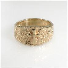 James Avery Textured Raised Crosslet Ring in 14KT Yellow Gold