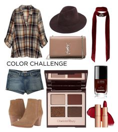 """Burgundy"" by dika-kasih ❤ liked on Polyvore featuring Bobeau, Franco Sarto, Charlotte Tilbury, J Brand, Chanel, Yves Saint Laurent, Miss Selfridge, colorchallenge and pumpkinandburgundy"
