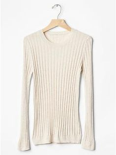 Ribbed jumper from GAP. Also available in black and grey