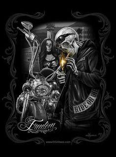 Ride or die is an oath swore between a couple or to . Arte Cholo, Cholo Art, Chicano Art, Motorcycle Art, Bike Art, Dark Fantasy Art, Dark Art, Arte Latina, Totenkopf Tattoos