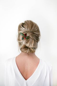 holiday hair updo
