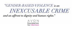 """""""Gender-based violence is an inexcusable crime and an affront to dignity and human rights."""" #EndGBV"""