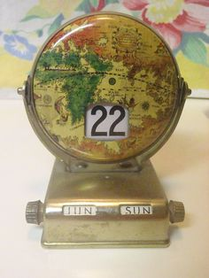 Midcentury Tin Lithograph Old World Earth Globe by BootyButtons, $old!!