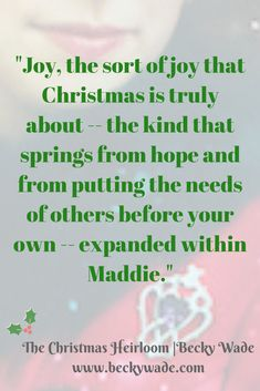 By Becky Wade in The Christmas Heirloom novella collection. #Christmas #reading