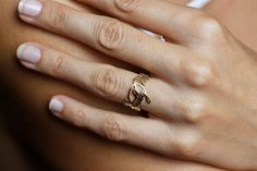 Gold Signature Ring Name Ring Signature Jewelry by capucinne