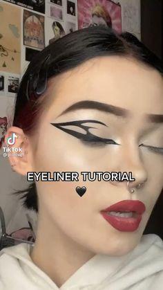 Cute Makeup Hacks, Dope Makeup, Emo Makeup, Fancy Makeup, Makeup Eye Looks, Creative Makeup Looks, Eye Makeup Art, No Eyeliner Makeup, Makeup Face Charts