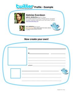 """Have your students make a Twitter profile & """"tweet"""" for a character, historical figure, scientist, artist, musician, celebrity, etc.. This is an example from Katniss Everdeen of The Hunger Games."""