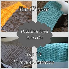 A personal favorite from my Etsy shop https://www.etsy.com/listing/203222542/knitting-pattern-choose-any-10-dishcloth