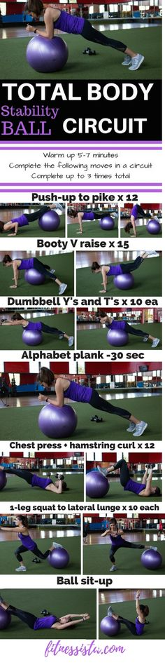 Stability ball total body circuit workout
