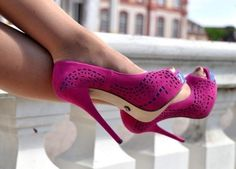 Bling Pink High Heel Shoes