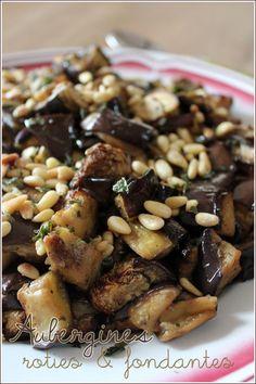 Salade d'aubergines rôties & fondantes à la menthe & pignons de pin – Mes brouillons de cuisine