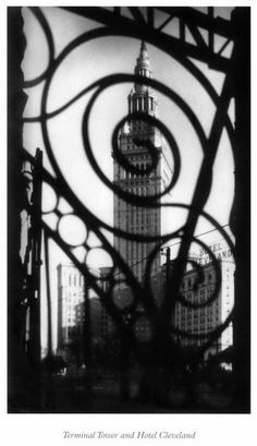 Margaret Bourke-White - Terminal Tower, Cleveland: View from Grillwork, 1928 ©The Wolfsonian-FIU