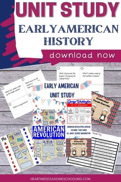 Learn about the colonies, the Revolutionary War, George Washington, and other fascinating facts and events in early American history with this hands-on unit study. Activities include a lapbook, task cards, read and color booklet, living books reading list, and more! Colonies and the Revolutionary War: Early American History Unit Study History Activities, Teaching History, Best Homeschool Curriculum, Homeschooling, Us History, American History, Printable Activities For Kids, Fascinating Facts, Unit Studies