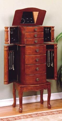 Powell Cherry Jewelry Armoire, want this