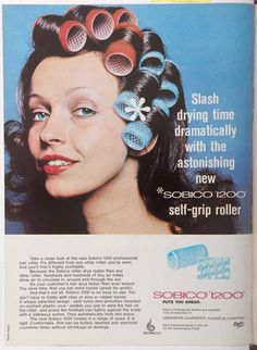 Vintage hair advert from HJ dating back to the 1970s.