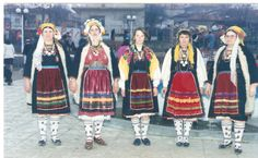 Traditional costumes from Thrace, Greece Greek Traditional Dress, Traditional Outfits, Dance Costumes, Greek Costumes, Greek Culture, Folk Costume, Greece, Albania, History