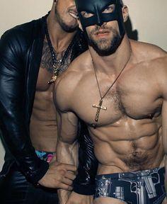 Sexy gay men in tats nailing