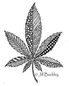 Free Adult Coloring Pages Weed