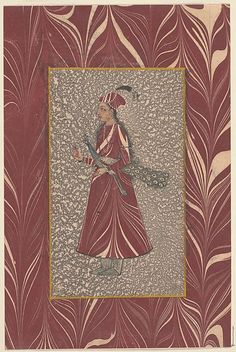 Lady Carrying a Peacock,late 17th–e. 18th C. Deccani Islamic. Deccan, India,