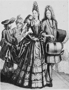 Noble Lady and Gentleman, 1693. French lady_gentleman_1693.jpg (459×600)