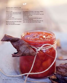 This would be so delicious - great to make as a small gift too. Plum & Apple Jam, via latest issue of Sweet Paul.