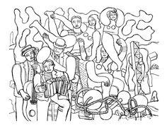 Acrobates et musiciens,1938, F Léger.