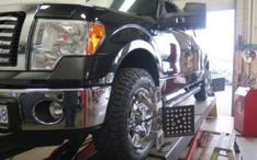 Ford F150 in for Bilstein 5100 Front Lift Struts and Rear Shocks at Dales Auto Service