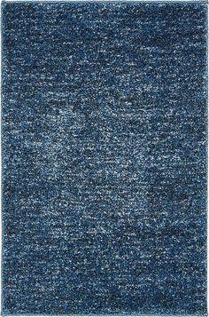 Kitchen rug Blue 2' 2 x 3' Solitaire Frieze Rug | Area Rugs | eSaleRugs
