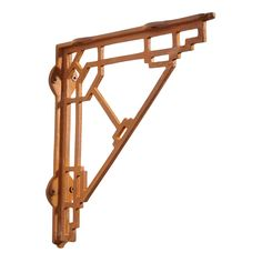 Mission Style Cast Iron Shelf Bracket - Rust
