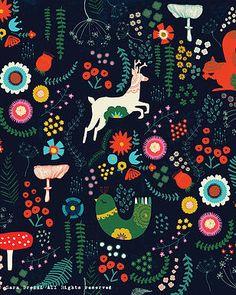Kindred Art Collective | Sara Brezzi #Art #Pattern #Illustration #Floral #Flower #Holidays #Christmas #Kindred