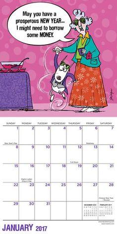 2017 Maxine Mini Calendar #Maxine #hallmark #calendar #2017 @hallmarkcanada @hallmark