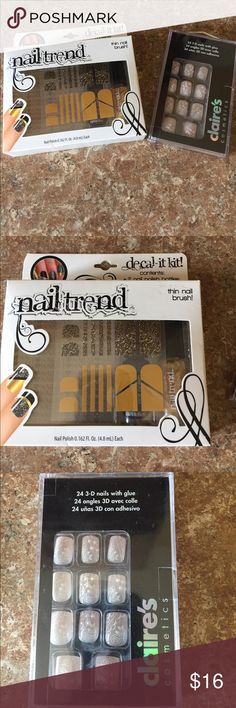 Selling this NWOT Nail Decor on Poshmark! My username is: kdelwiche. #shopmycloset #poshmark #fashion #shopping #style #forsale #Claire's & Nail Trend  #Other