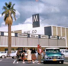 MAY COMPANY - EASTLAND PLAZA:  West Covina, CA, ca. 1958.