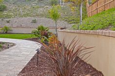 Stucco Retaining Wall Brick Cap | by calsmartscape