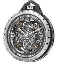 Mit der Excalibur Spider Taschenuhr demonstriert Roger Dubuis erneut, dass die ebenso extravaganten Zeitmesser der Marke mehr sind als die Summe ihrer Teile