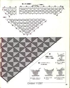 Треугольная шаль с треугольным рисунком (крючок). Обсуждение на LiveInternet - Российский Сервис Онлайн-Дневников