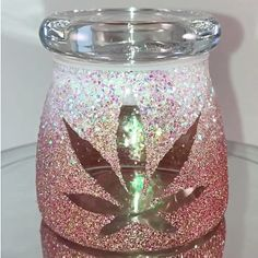 Rosegold and White Ombre Stash Jar
