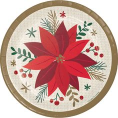 Creative Converting Modern poinsettia decorates your space and your guests won't be disappointed! This product is the perfect addition to your celebration. First Birthday Party Decorations, Tea Party Birthday, Christmas Party Decorations, Paper Decorations, Poinsettia Flower, Christmas Ships, Unicorn Baby Shower, Floral Baby Shower