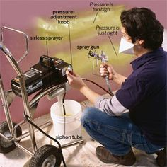how to spray latex paint with an airless sprayer
