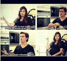 Scott Disick's opinion on pictures