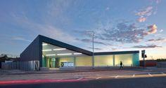 Estación Dalmarnock by ATKINS ( Glasgow City G40, Reino Unido) #architecture