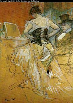 Toulouse-Lautrec ~ 'A Passing Conquest' ~ I just love his movement and composition in his pieces...