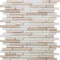 """Emser Tile & Natural Stone: Ceramic and Porcelain Tiles, Mosaics, Glass Tiles, Natural Stone: Mosaic, Glass and Metal: Lucente Stone Blends Linear Stone Blends On 12""""x13"""" Mesh , Andrea"""