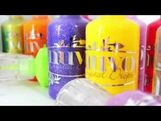 From the Simon Says Stamp Blog.. Nuvo Crystal and Glimmer drops!