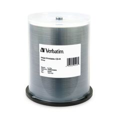 Verbatim 700 MB 52x 80 Minute Silver Inkjet Printable Recordable Disc CDR 100Disc Spindle 95256 Portable Consumer Electronics Home Gadget *** To view further for this item, visit the image link. (Note:Amazon affiliate link) #ComputersAccessories