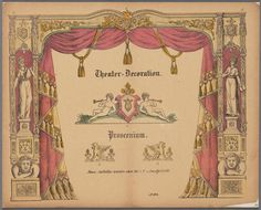 Theater-Decoration, Proscenium c 1850-1900