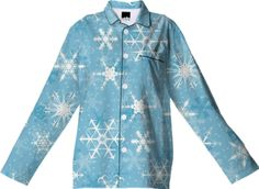Snowflakes Pajama Top - Available Here: http://printallover.me/collections/sondersky/products/0000000p-snowflakes-17
