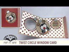 Pop it Ups Twist Circle Window Card - YouTube