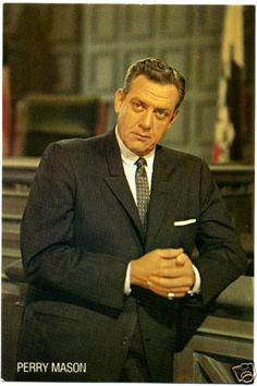 It is often said that Raymond Burr was Erle Stanley Gardner's personal choice for the character he created.Though Perry Mason was the criminal defense lawyer, he was also the one who solved the murders. Mason Raymond, Raymond Burr, Great Tv Shows, Old Tv Shows, Color Television, Radios, Tv Detectives, Old Movie Stars, Criminal Defense